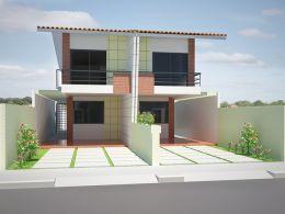 Projetos de fachadas e plantas de casa térrea e sobrado