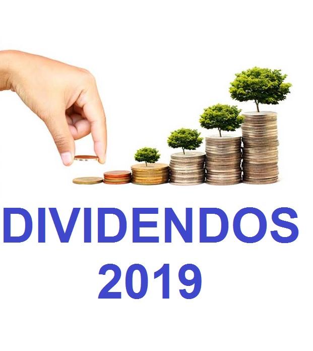 DIVIDENDOS 2019 DE AÇÕES