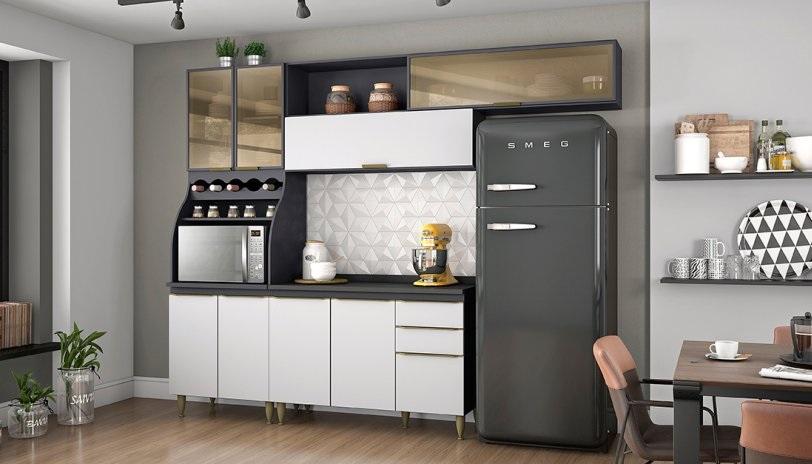 cozinha modulada branca