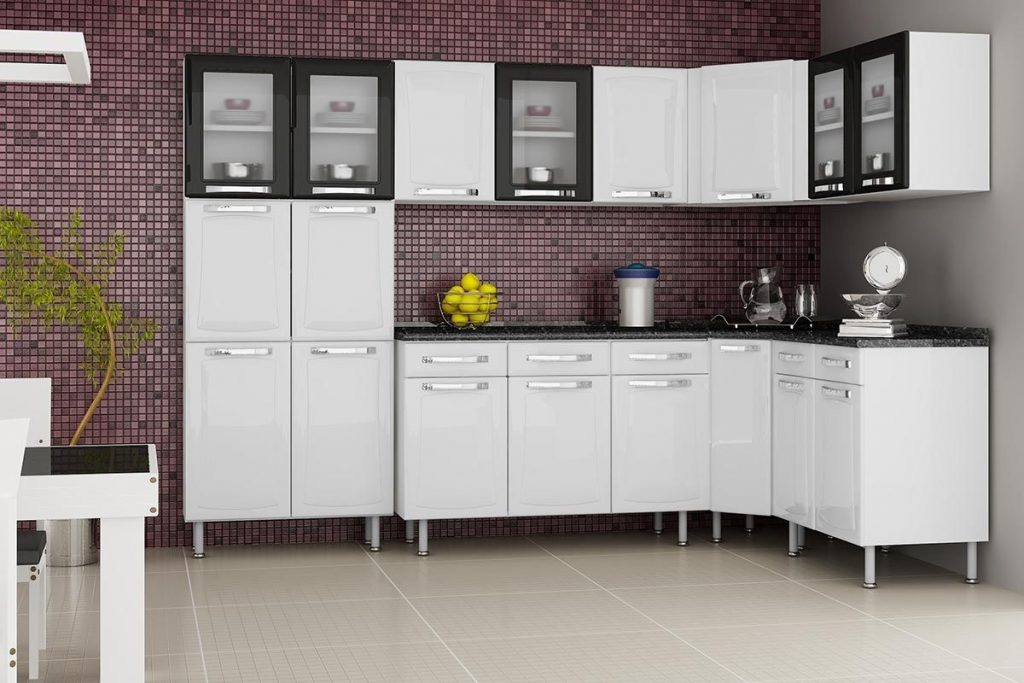 cozinhas moduladas brancas itatiaia
