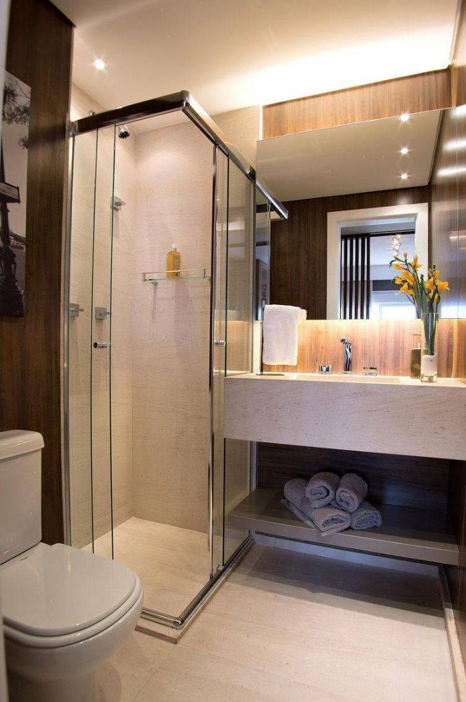 box de banheiro de vidro verde