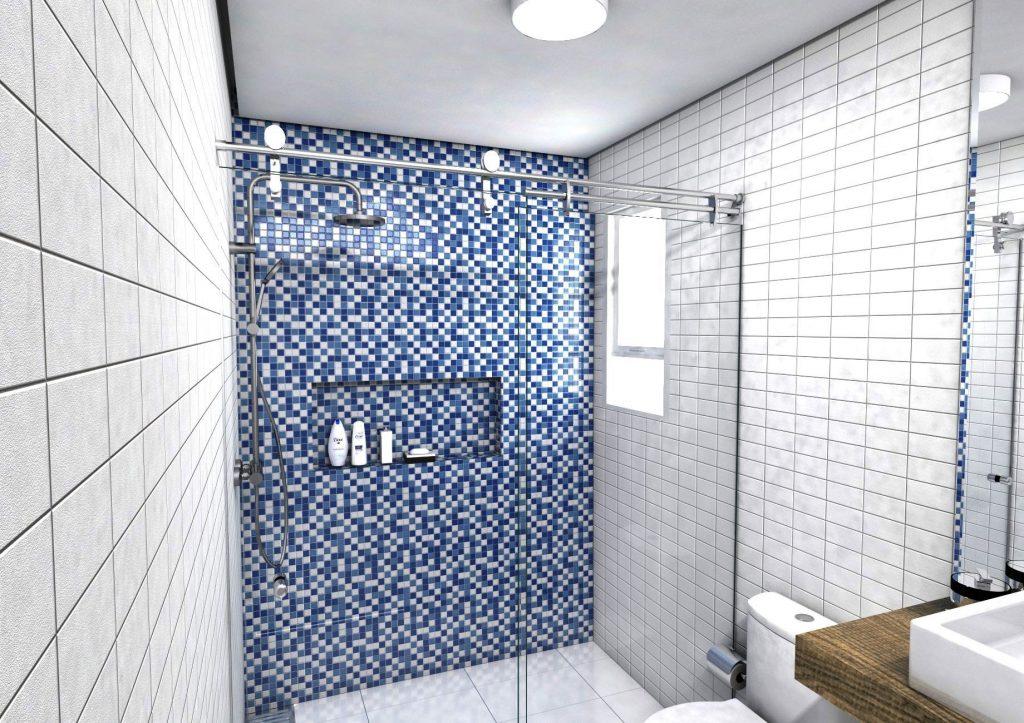 box de banheiro pequeno e moderno