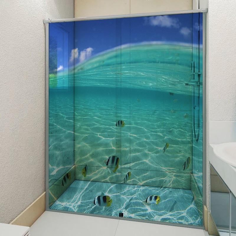 box para banheiro com pelicula adesiva