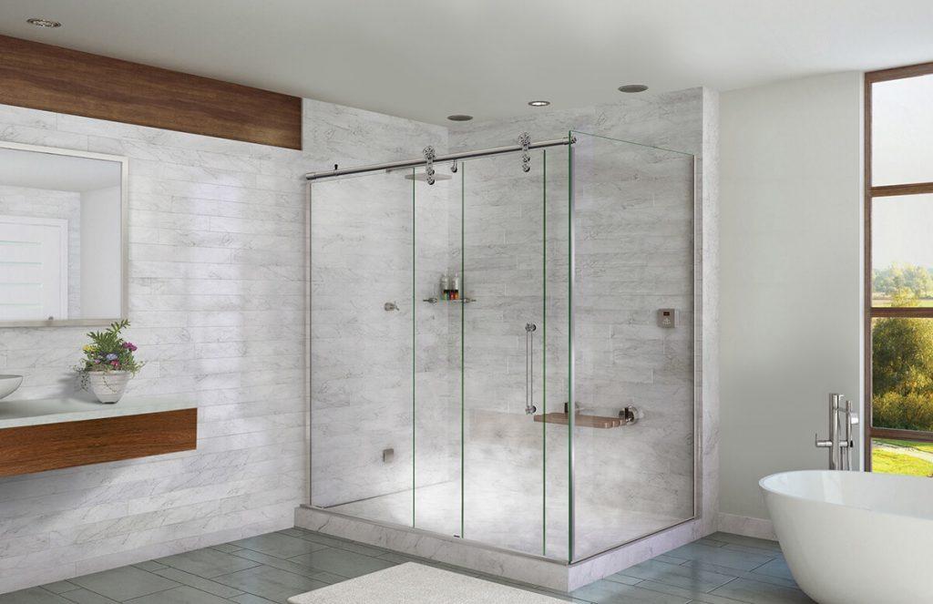 box para banheiro de vidro transparente
