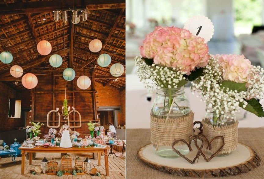 casamento simples decoração da mesa e enfeites