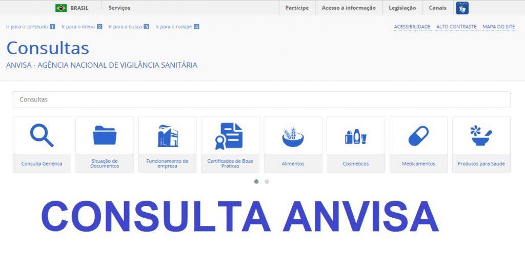 consulta anvisa registro de produto