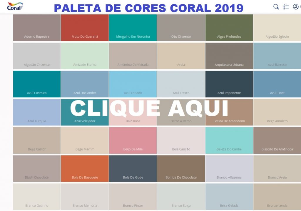 cores coral 2019