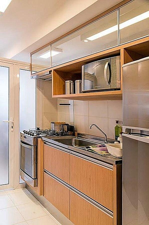 cozinha pequena planejada e decorada