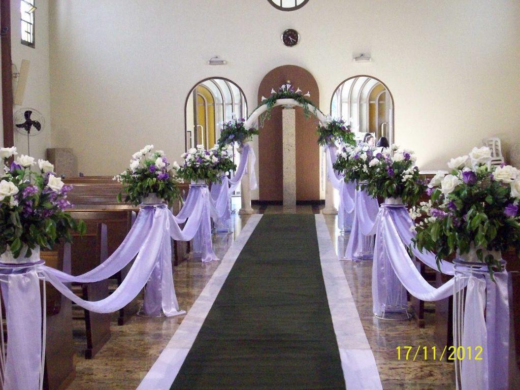 ecoração de igreja para casamento simples