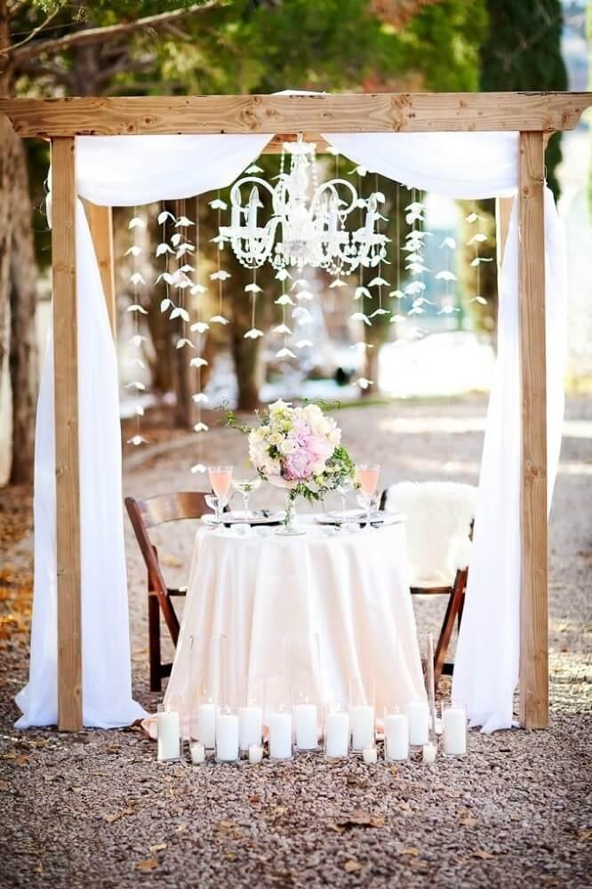 decoração para casamento simples