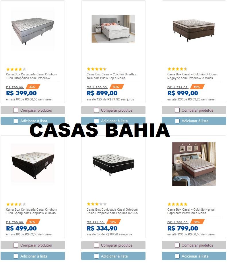 CAMA BOX CASAS BAHIA PREÇOS E PROMOÇÕES 2019 - 2020