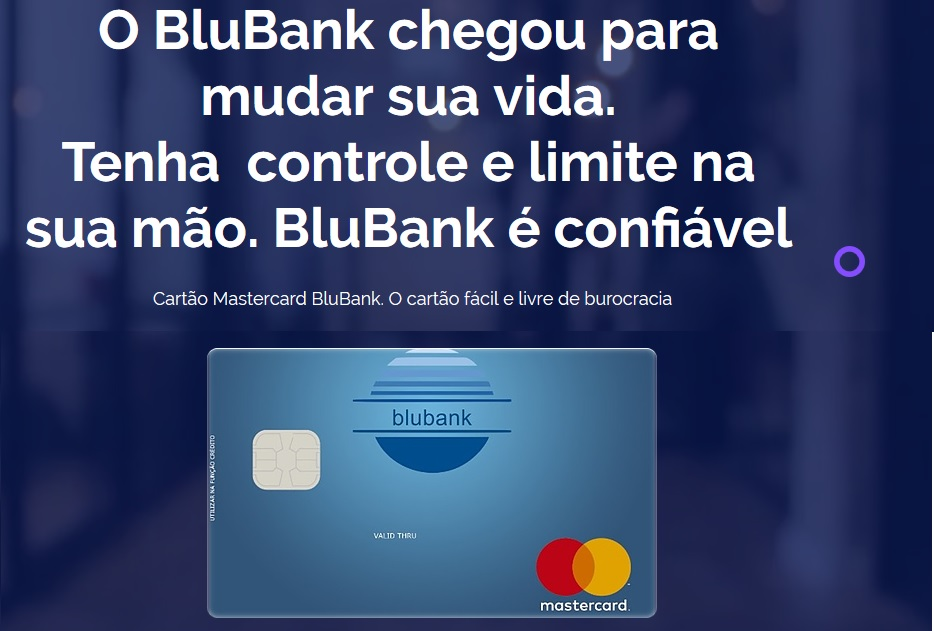 blubank cartão de credito sem burocracia