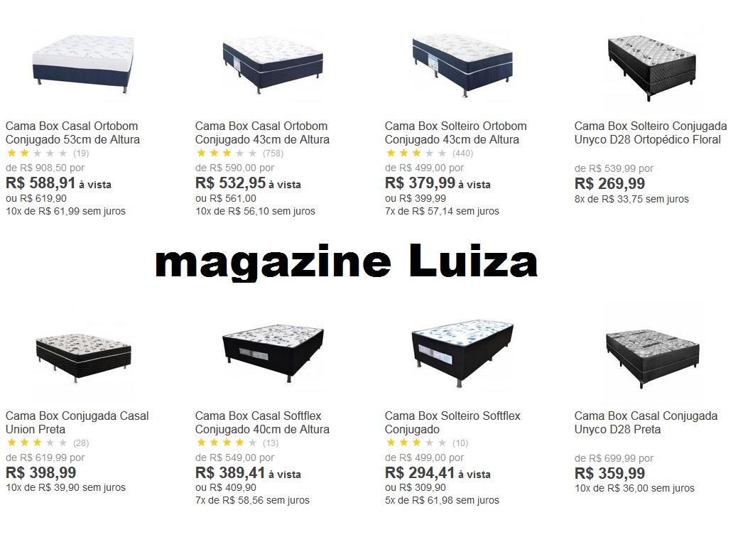cama box casal magazine luiza promoção