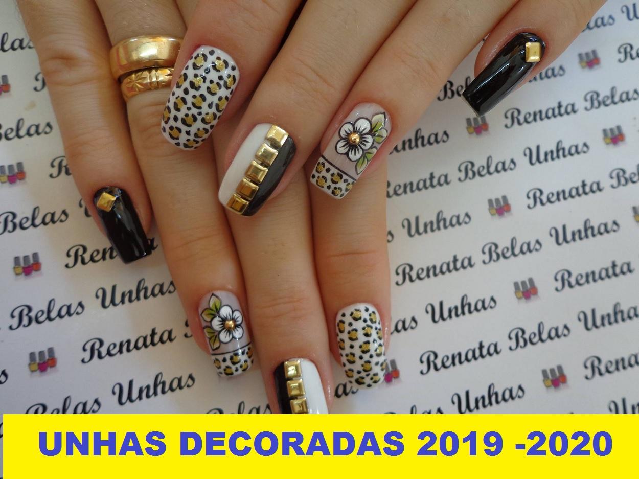 unhas decoradas 2019 - 2020 lindas
