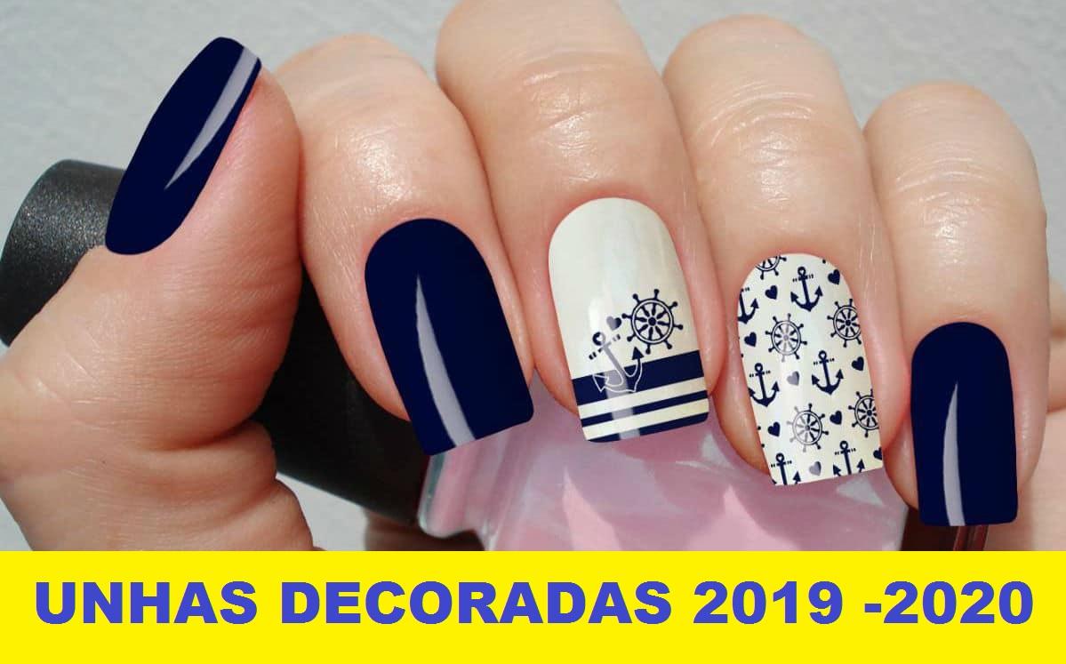 unhas decoradas lindas 2019 - 2020