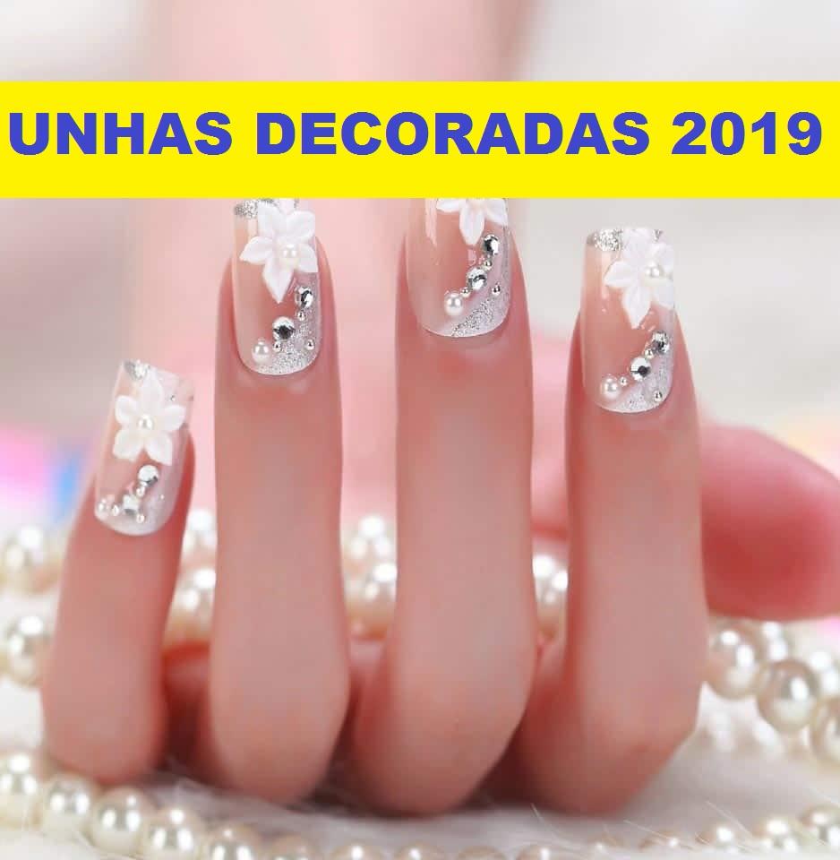 unhas decoradas simples 2019 - 2020
