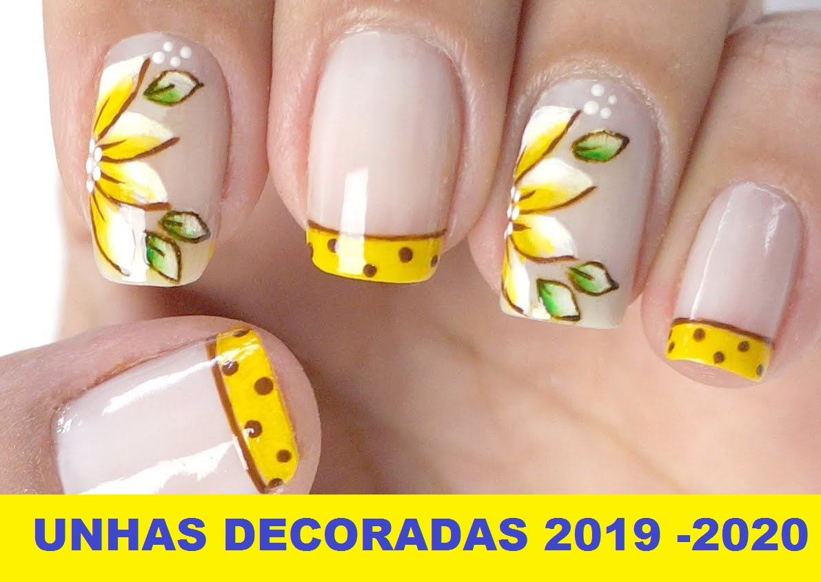 unhas decoradas tendencias 2019 -2020