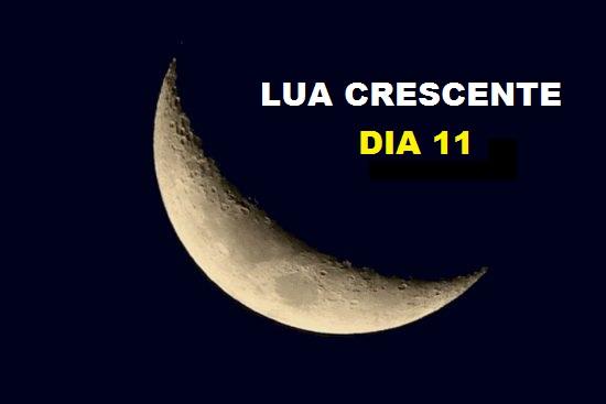 LUA CRESCENTE DIA 11