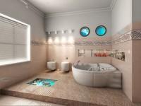 banheiro com banheiras de hidromassagem